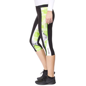 Skins A200 Hardloop Shorts Dames groen/zwart